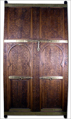 Luxuary Carved Cedar Moroccan Door