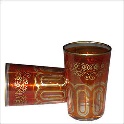 Bahia Moroccan Tea Glasses - Orange