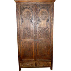 Carved Cedar Armoire