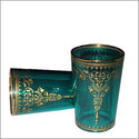 Arabismo Moroccan Tea Glasses - Green
