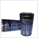 Bahia Moroccan Tea Glasses - Blue