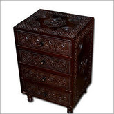 Carved Teak Night Stand