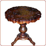 Zahra carved table